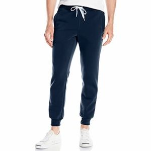 Southpole active new navy basic fleece joggers M
